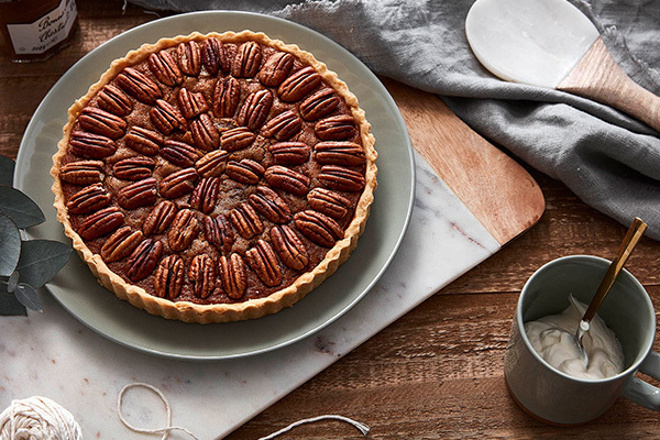 Our designer Lucy shares her family's Pecan Pie recipe. Photography Denise Braki, styling Allira Bell.