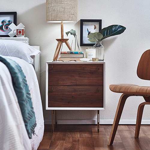 Bedside table styling via @templeandwebster