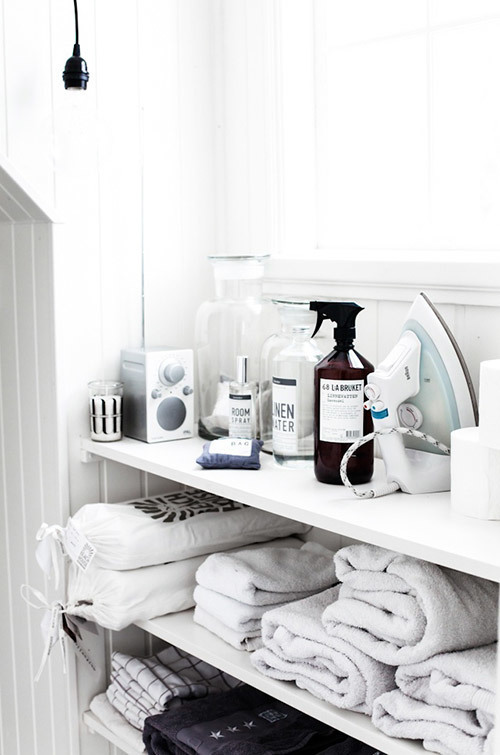 Laundry organisation via Temple & Webster Journal