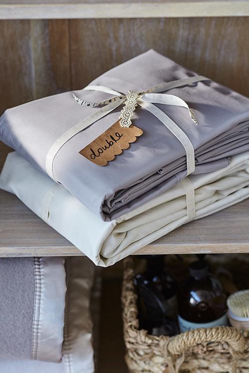 Organising your linen closet via Temple & Webster Journal