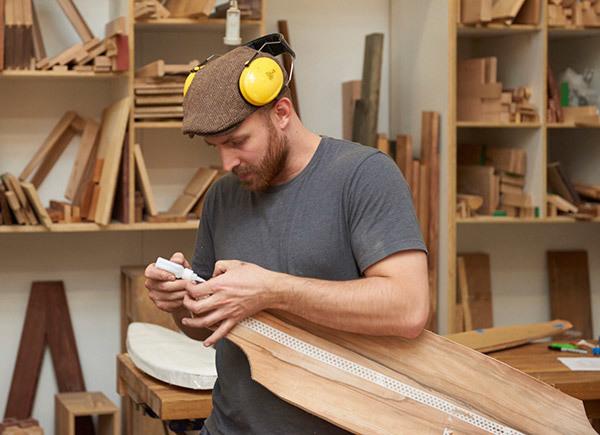 Elliot at work in his Melbourne studio