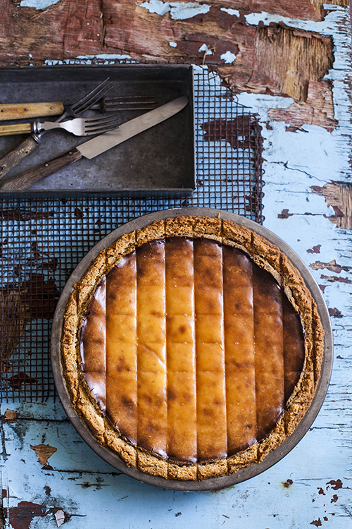 Phoebe Wood and Kirsten Jenkins' baked ricotta, date and orange blossom pie from The Pie Project (Hardie Grant Books). Photo by