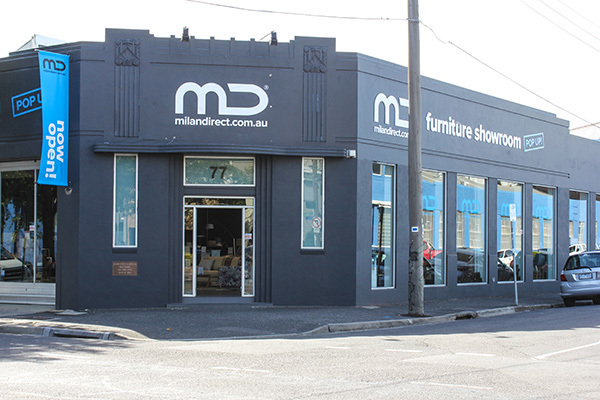 The Mil;an Direct pop-up showroom is now open in Richmond, Melbourne.