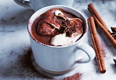 Exciting hot winter drinks