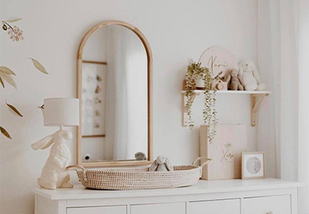Where it went: Tate Arched Wooden Framed Wall Mirror