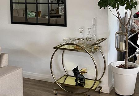 Where it went: Gold Gatsby Bar Cart