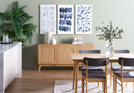 How to style a rattan buffet