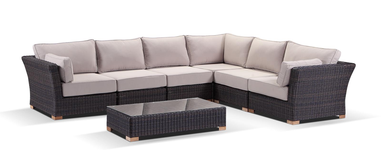 Coco 5 Seater Corner Modular Outdoor Sofa Set