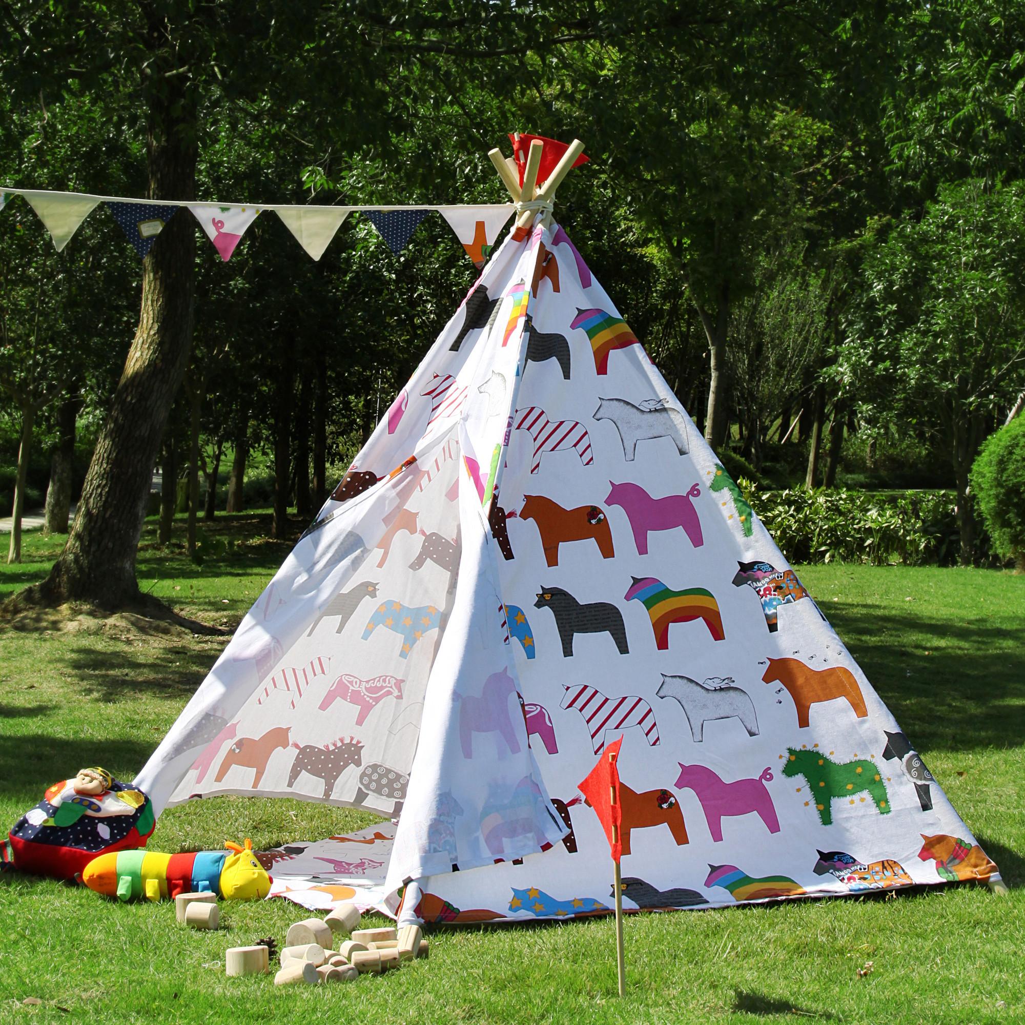 large kids horse pentagon teepee outdoor tent temple u0026 webster