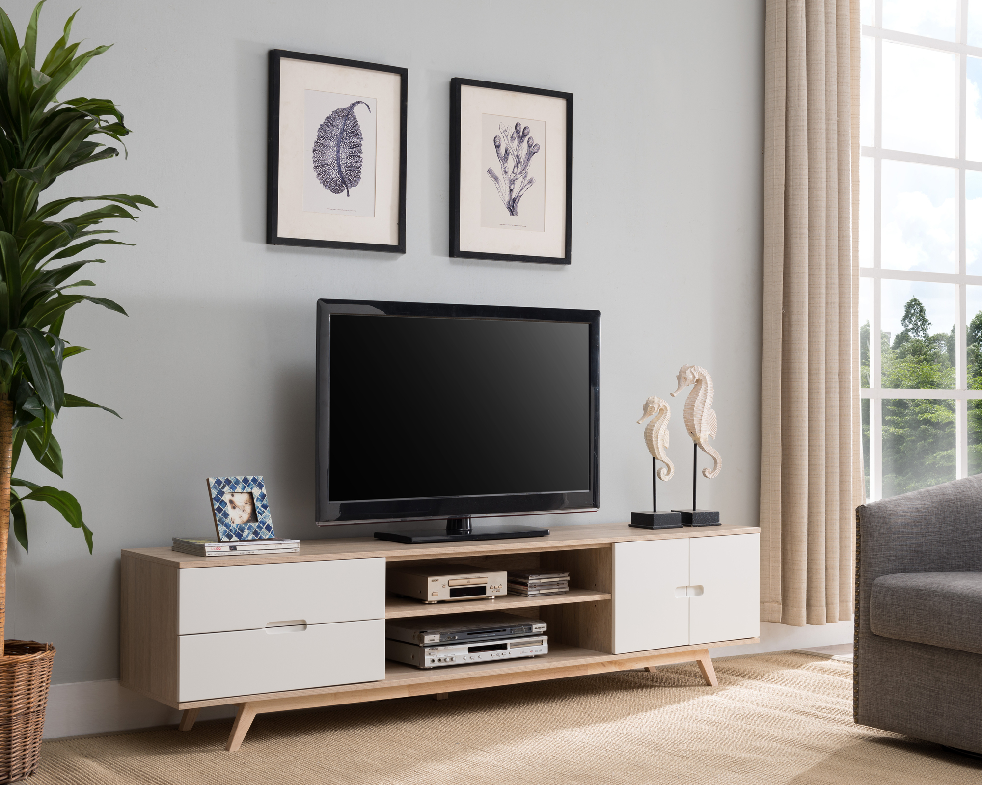 NEW 200cm Nova European Style Entertainment Unit KD Furniture TV ...