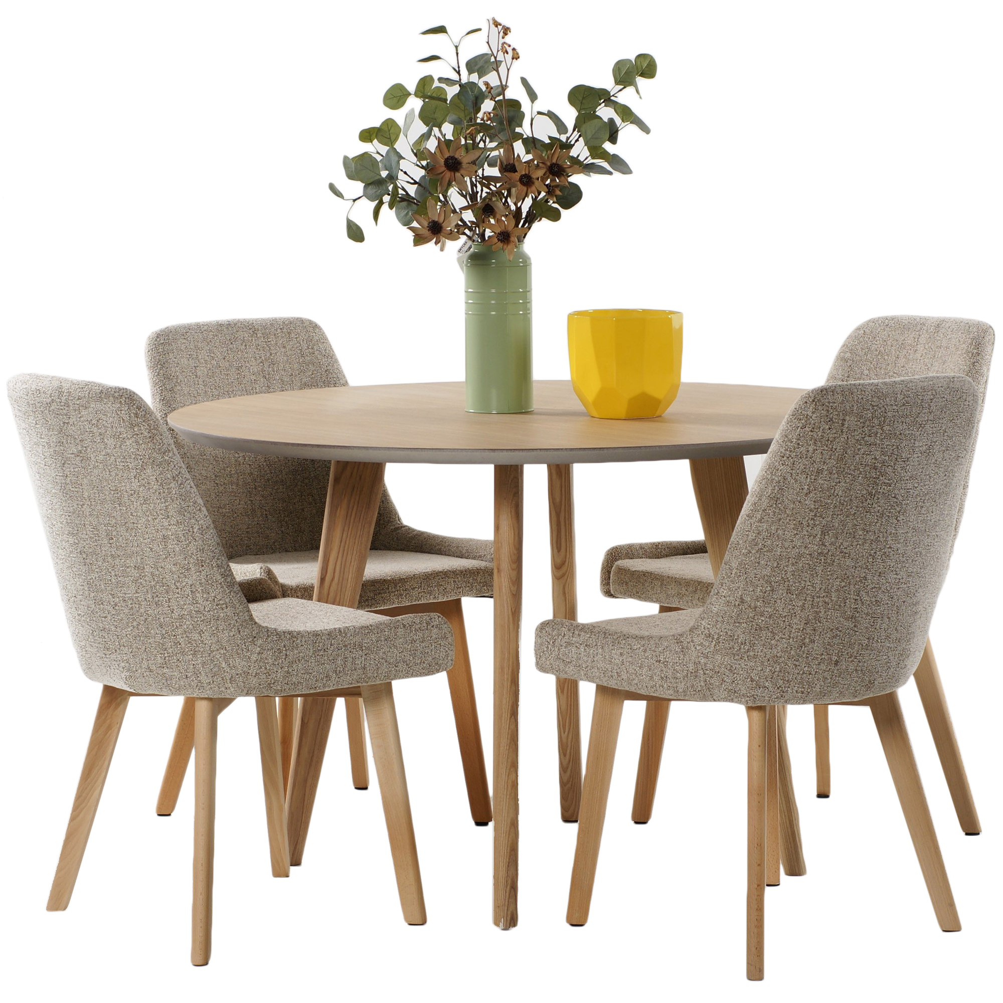 Sku deso1116 4 seater alexandria dining table chair set is also sometimes listed under the following manufacturer numbers alex5pc oak