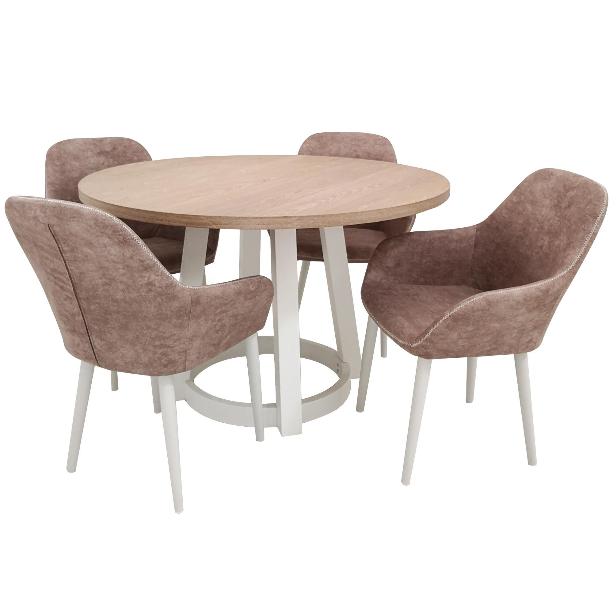 4 Seater Eli Upholstered Dining Set Temple Webster