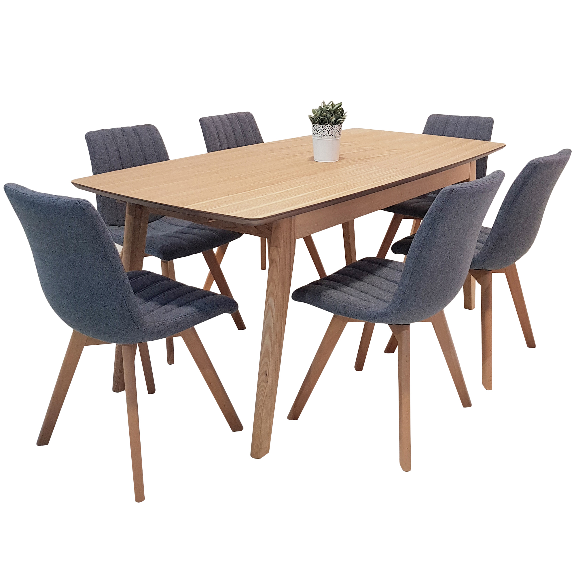NEW 6 Seater Alexandria Extendable Dining Table & Chairs ...