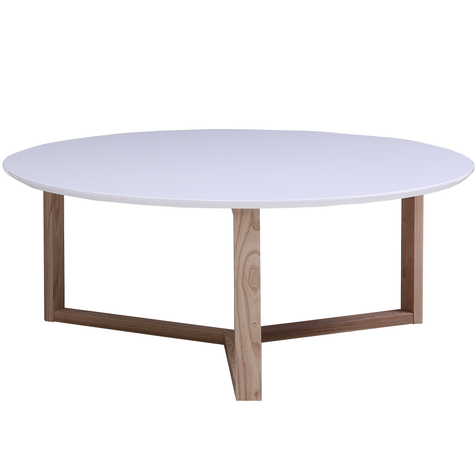 - Homestar White Aura Round Coffee Table & Reviews Temple & Webster