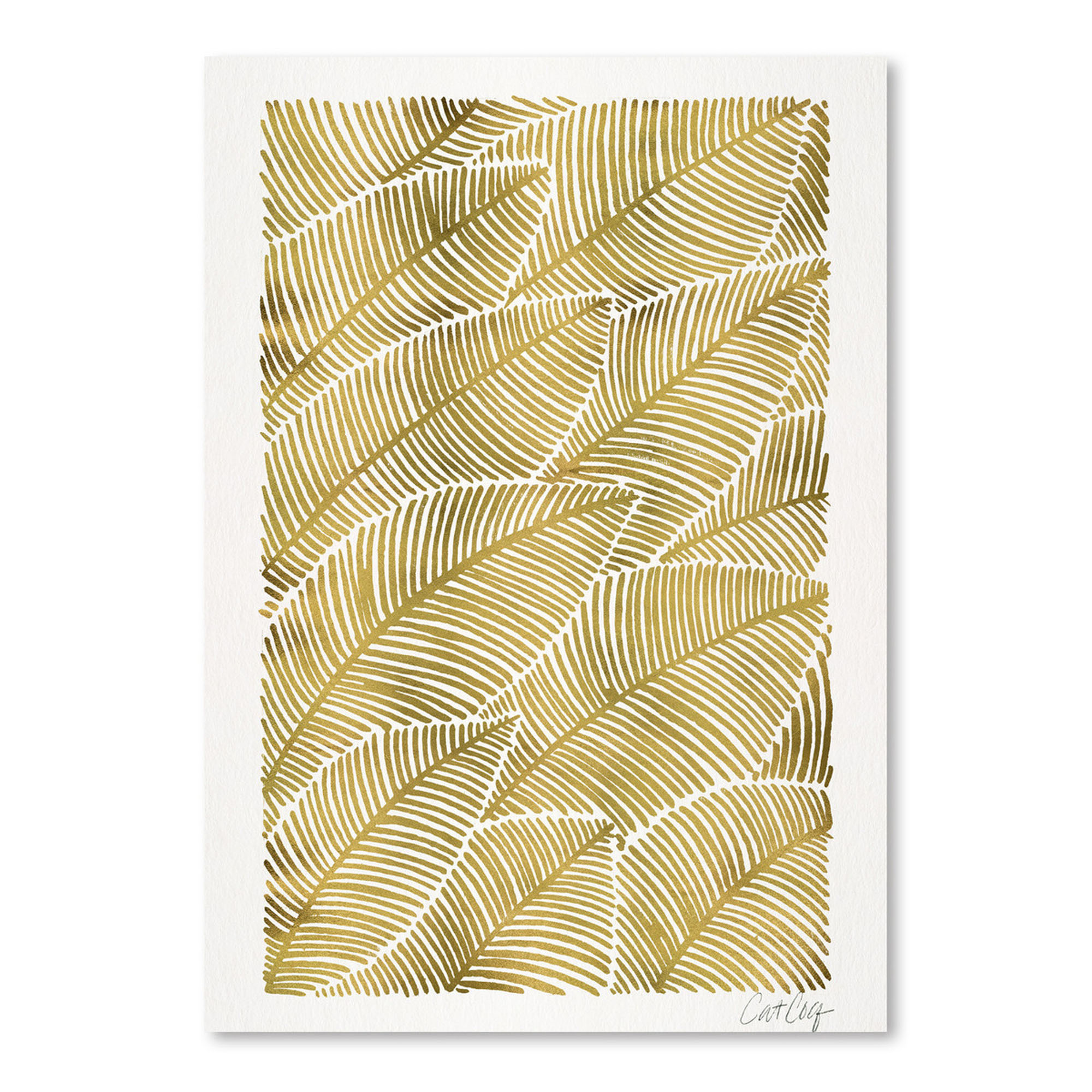 Tropical Gold Printed Wall Art | Temple & Webster