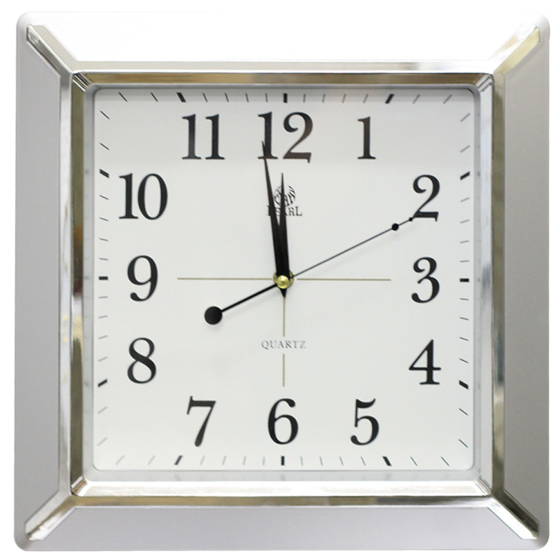 35cm Square Wall Clock With Sweep Movement Temple Webster