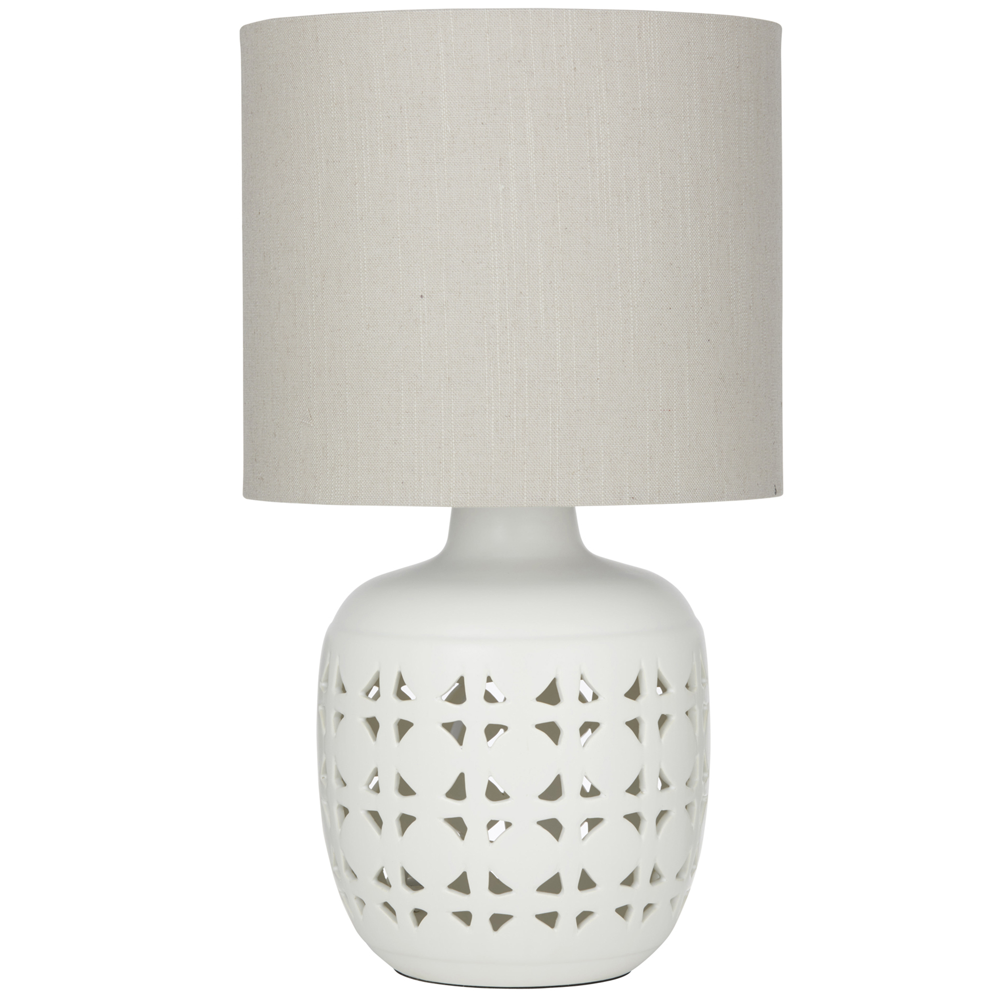 Picture of: The Home Collective White Fiesta Ceramic Table Lamp Reviews Temple Webster
