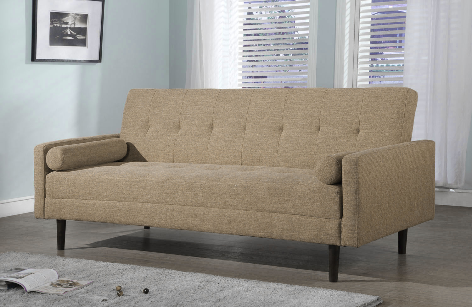 SKU #NGUY1067 Mandi Sofa Bed Is Also Sometimes Listed Under The Following  Manufacturer Numbers: BCL FENDI BEIGE, BCL FENDI CHARCOAL