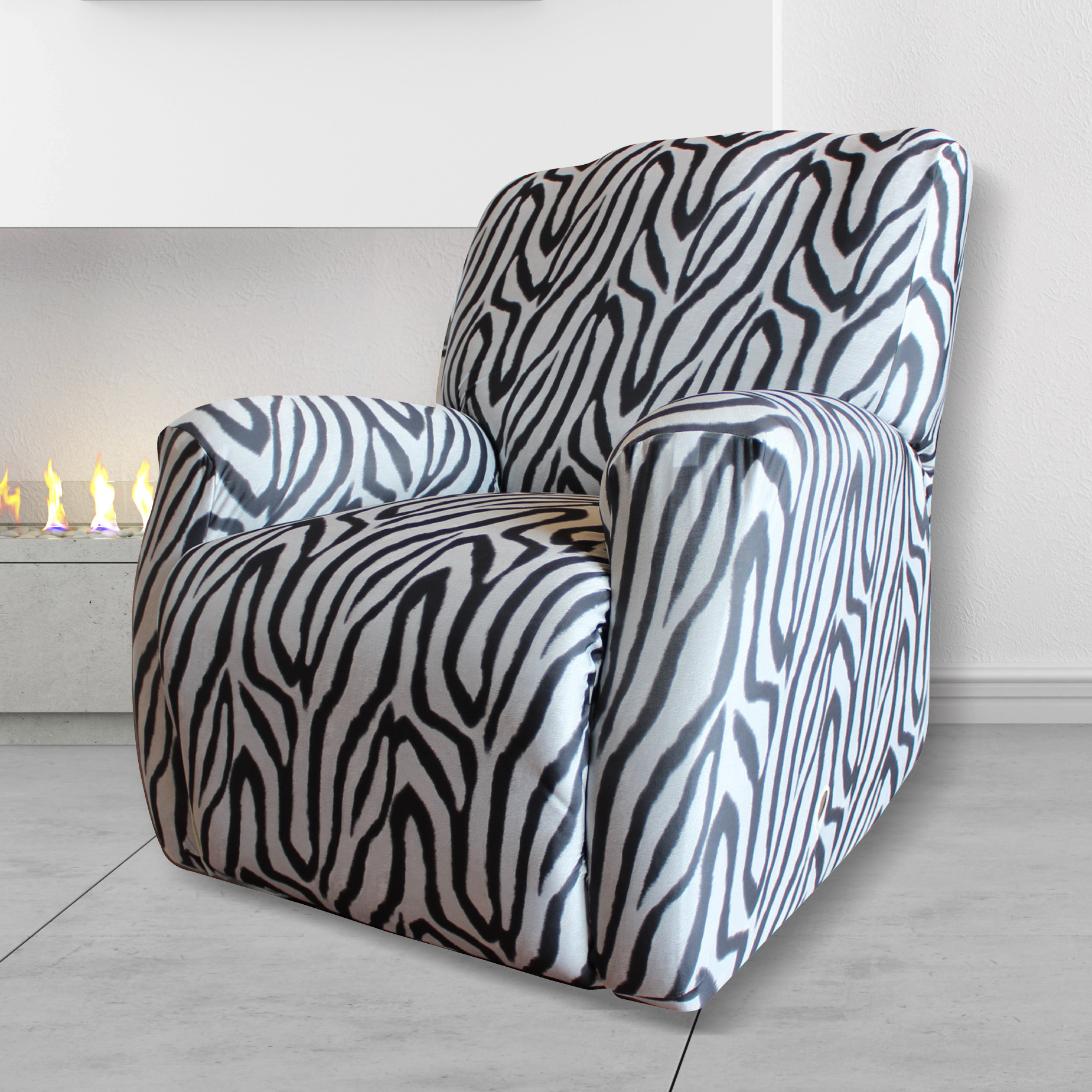 Statement Prints Zebra Recliner Cover