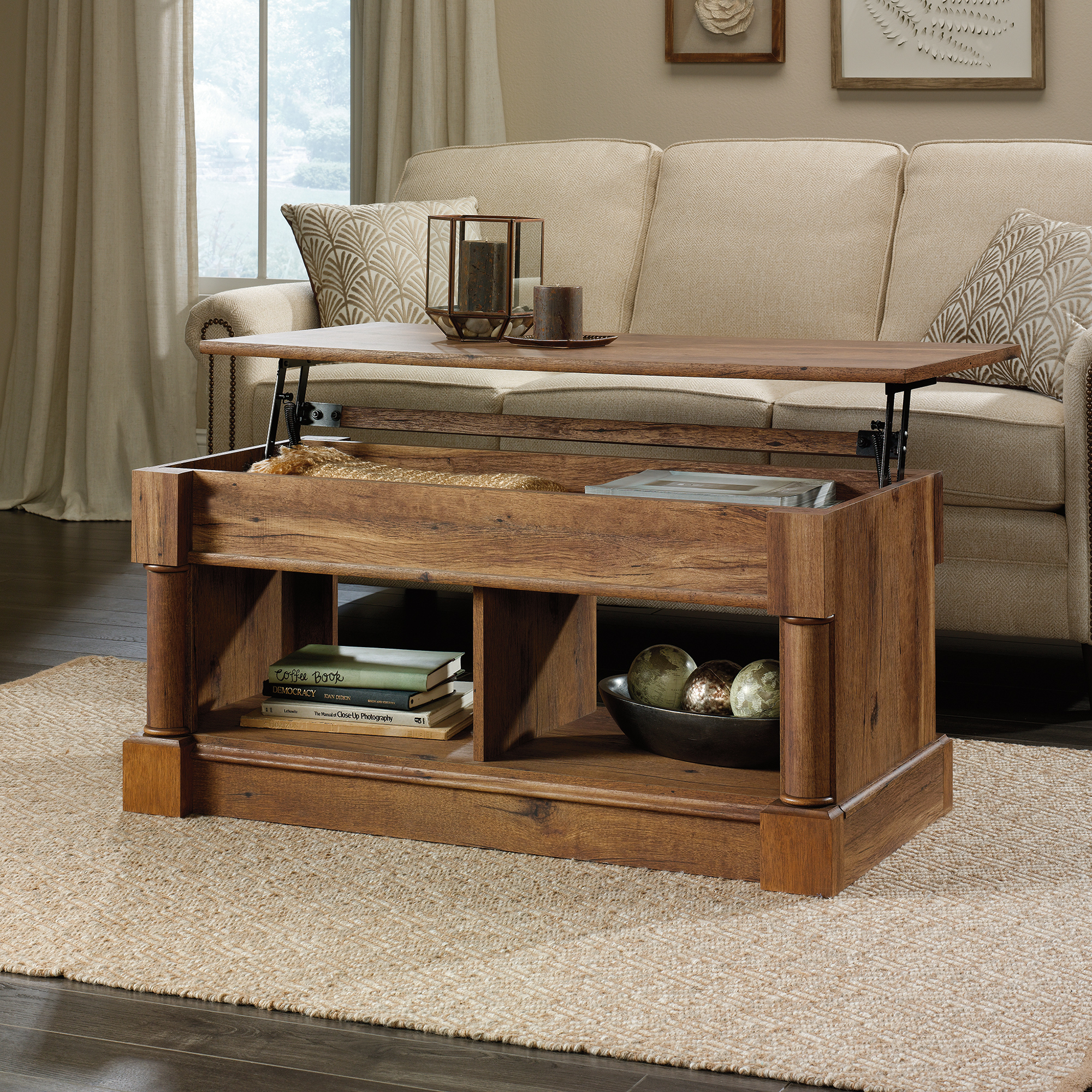 Sauder Palladia Lift Top Coffee Table Reviews Temple Webster