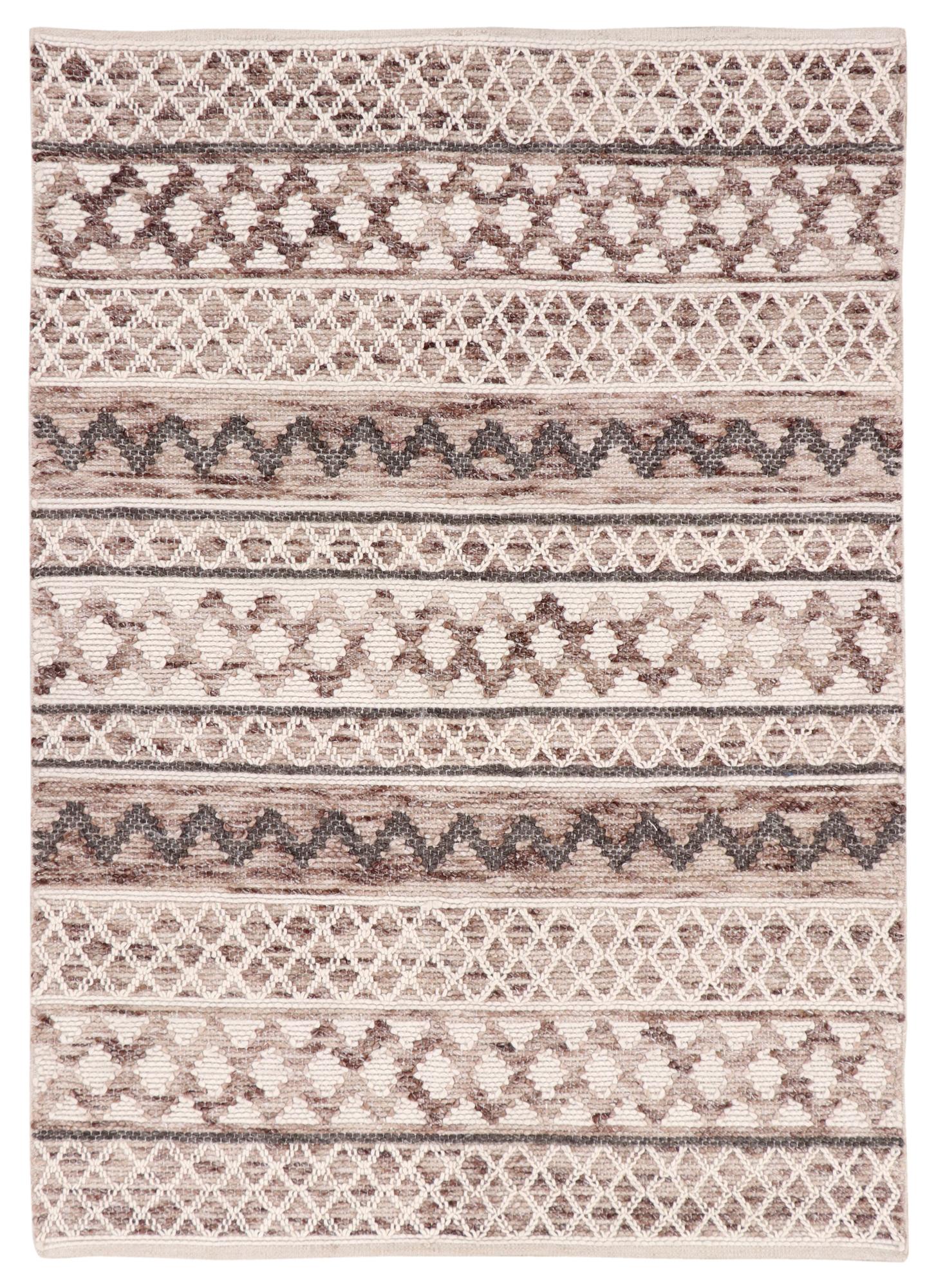 Natural Omen Woven Wool Rug