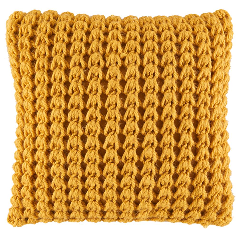 NEW-Chunky-Knit-Kelly-Square-Cushion-Kas-Cushions thumbnail 4