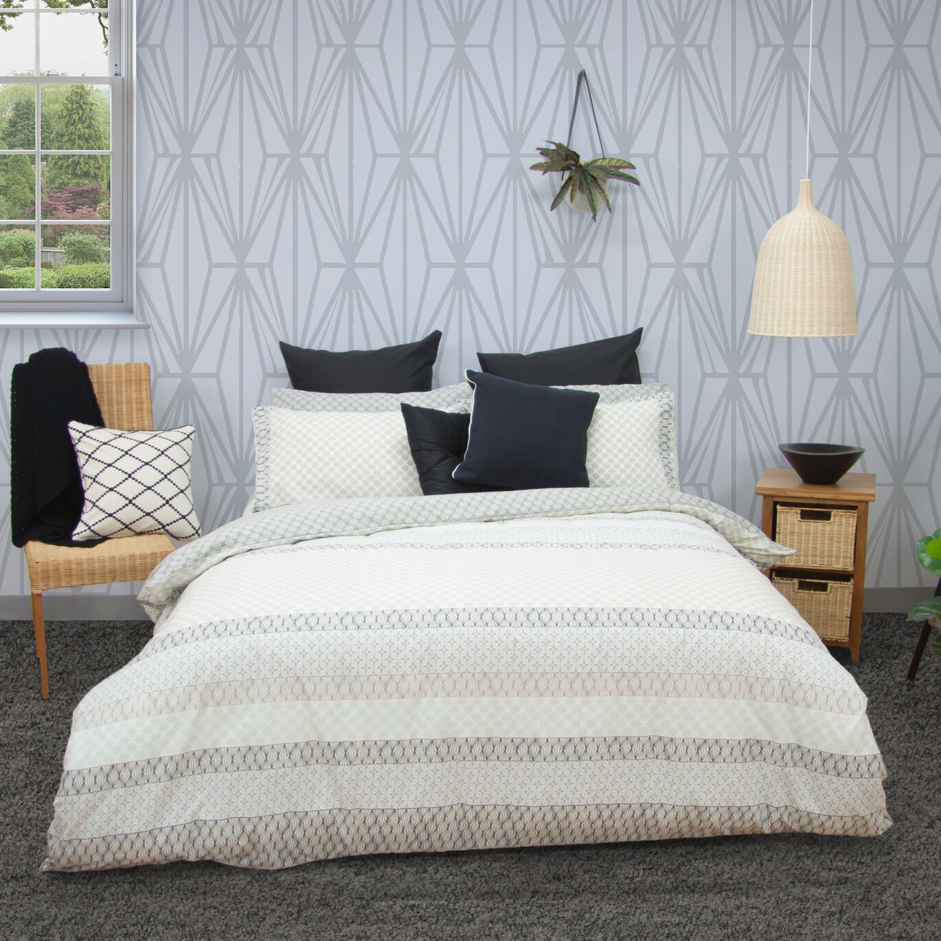quilted duvet cover. SKU #APAR1069 Grey Inga Quilted Quilt Cover Set Is Also Sometimes Listed Under The Following Manufacturer Numbers: QS3933GRYKB, QS3933GRYQB Duvet