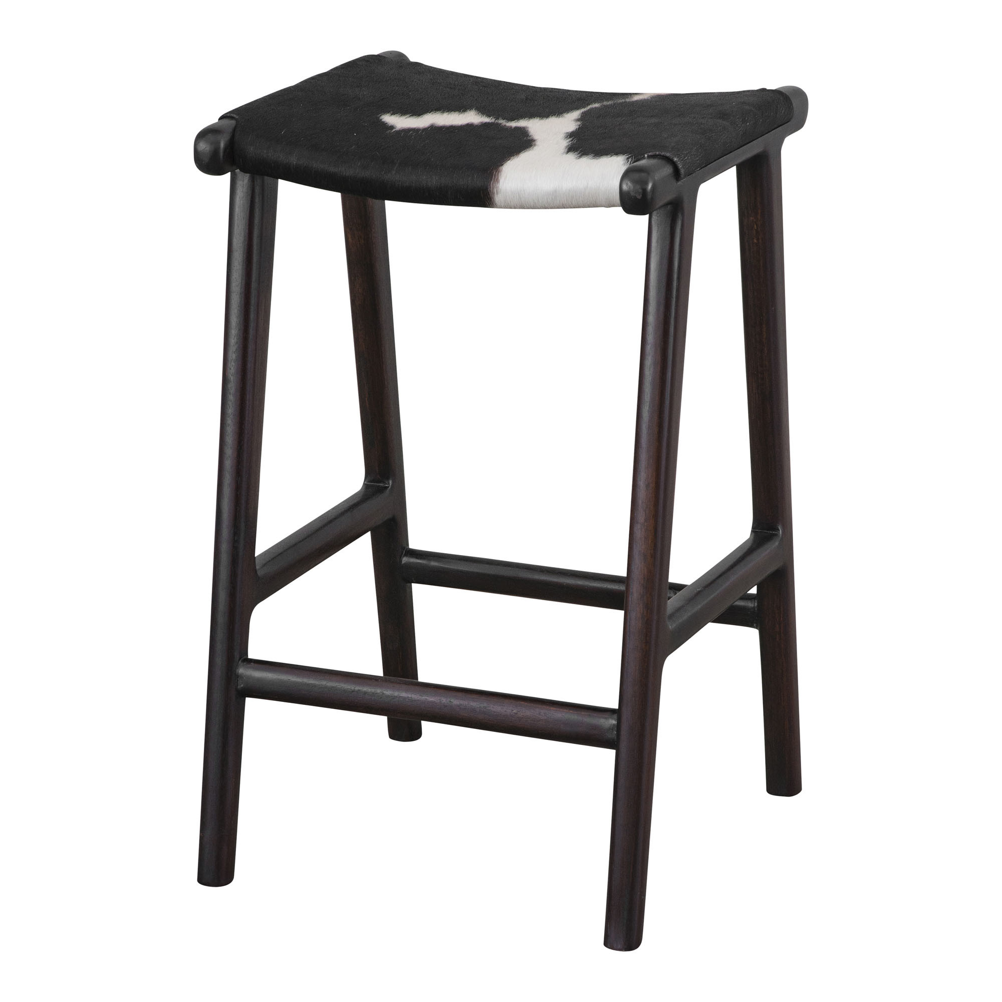 Black & White Malta Cowhide Bar Stool | Temple & Webster