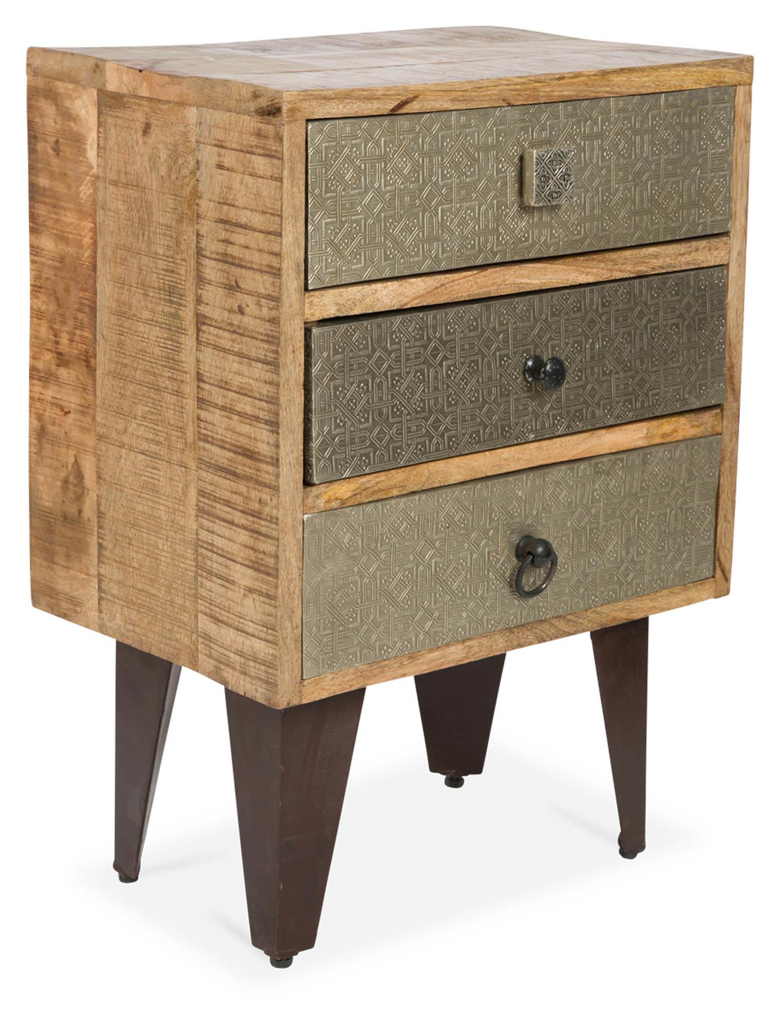 pressed metal furniture. SKU #CAS1722 Jojo 3 Drawer Pressed Metal \u0026 Wood Bedside Table Is Also Sometimes Listed Under The Following Manufacturer Numbers: SK01 Furniture P