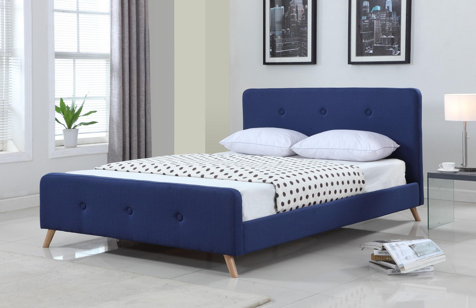 NEW Modern Scandinavian Queen Upholstered Bed Frame