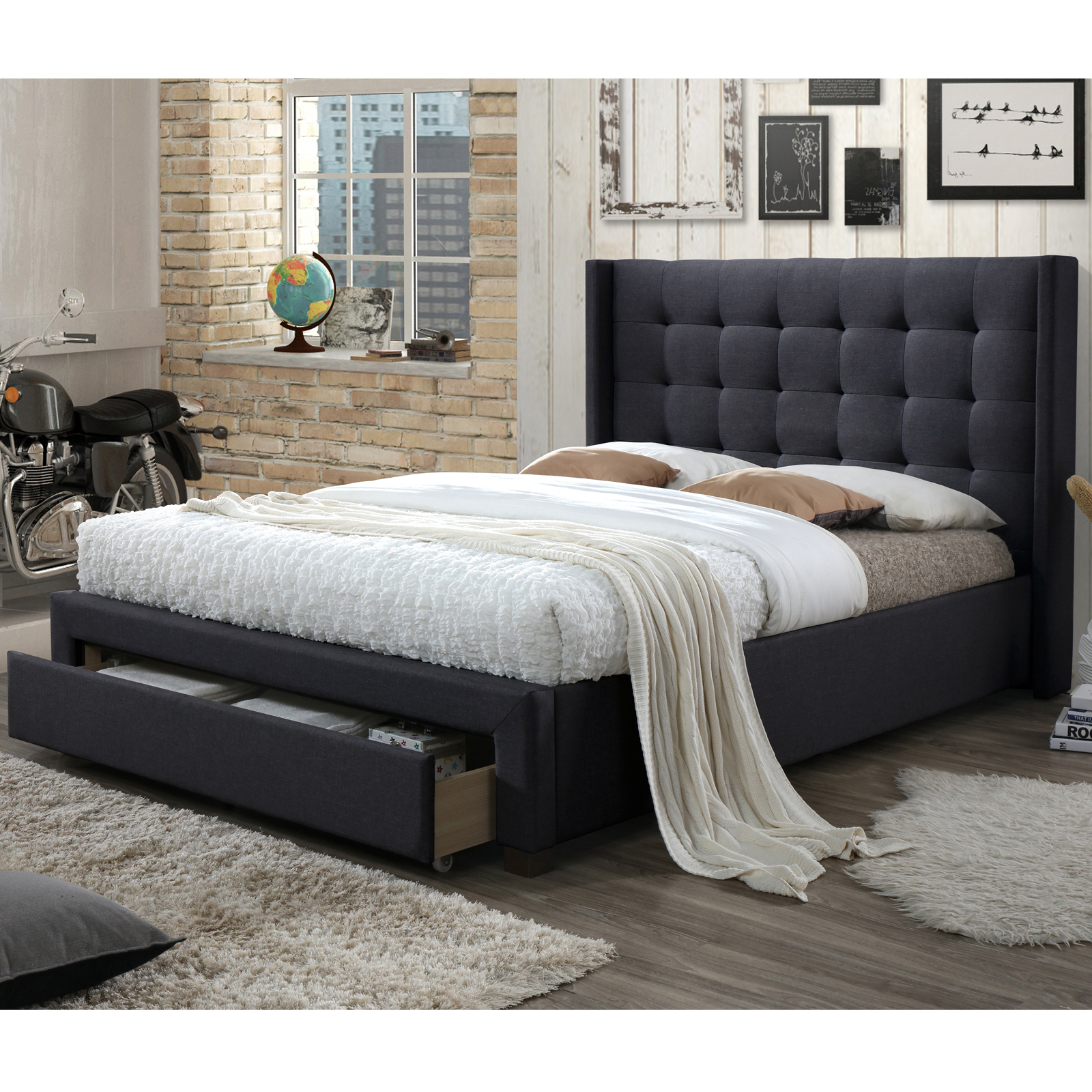 homesense used headboard purchased spring queen bed in set bedroom box frame new mattress with and en brand i form
