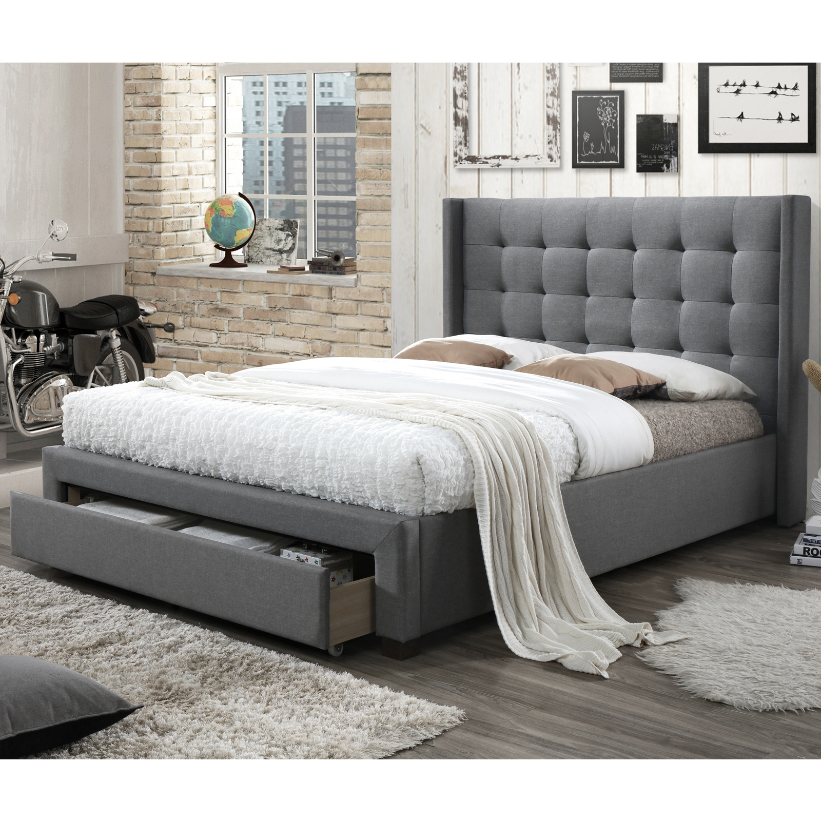 New Atlanta Queen Bed Spring Latex Pillowtop Mattress Vic Furniture Beds Ebay