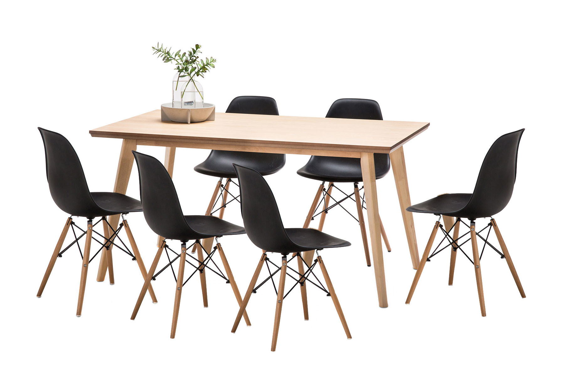 SKU #FEEL1393 Wyatt Dining Table Set With 6 Replica Eames Chairs Is Also  Sometimes Listed Under The Following Manufacturer Numbers: 41 052 Kit 7, ...