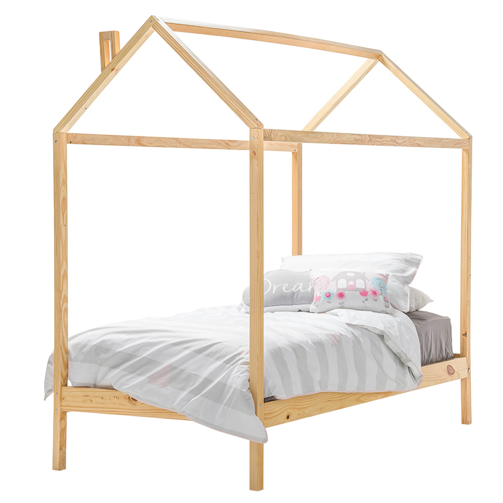 Wooden House Single Bed | Temple & Webster