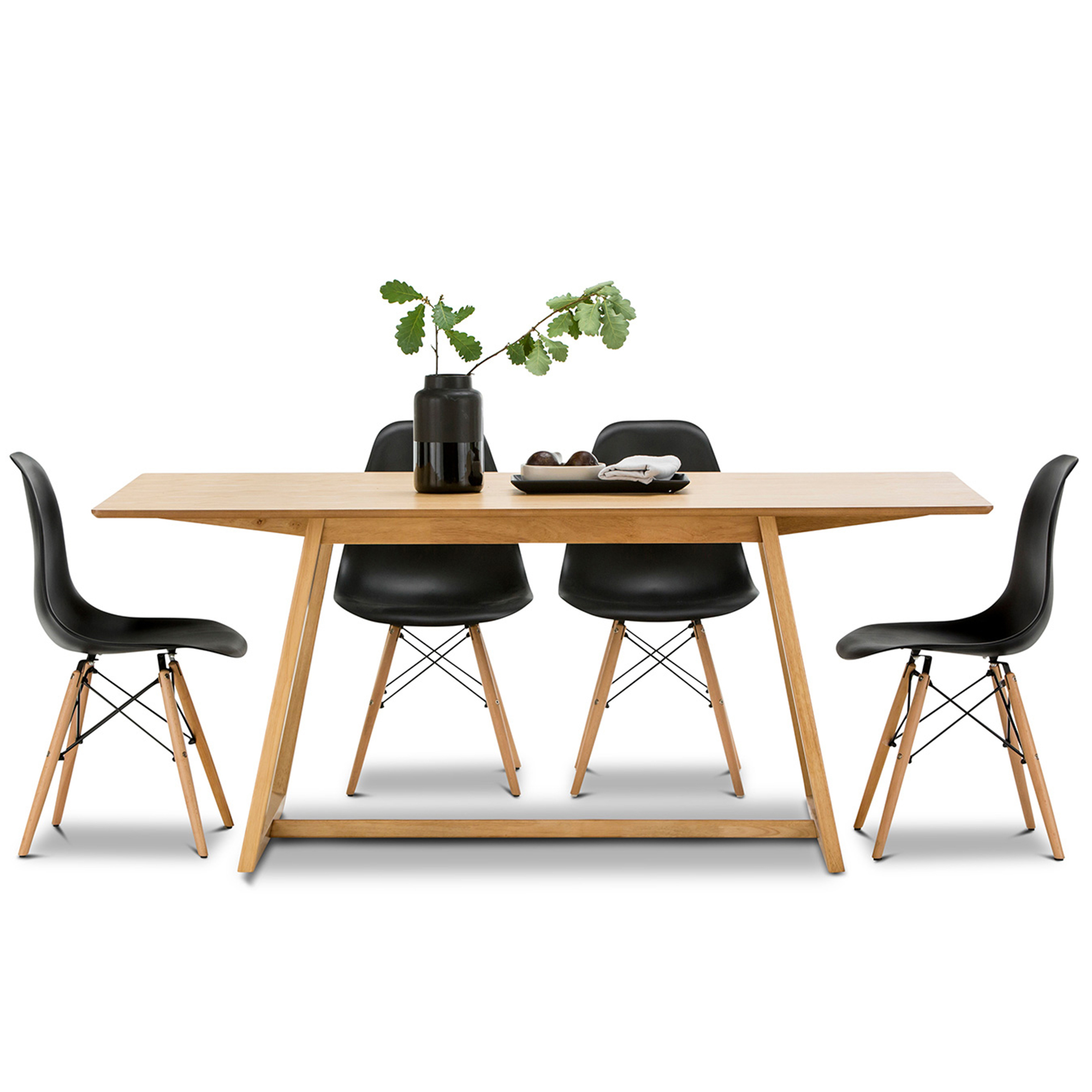 SKU #FEEL1486 Manhattan Dining Table U0026 Eames Replica Chairs Set Is Also  Sometimes Listed Under The Following Manufacturer Numbers: 41 136 Kit 1, ...