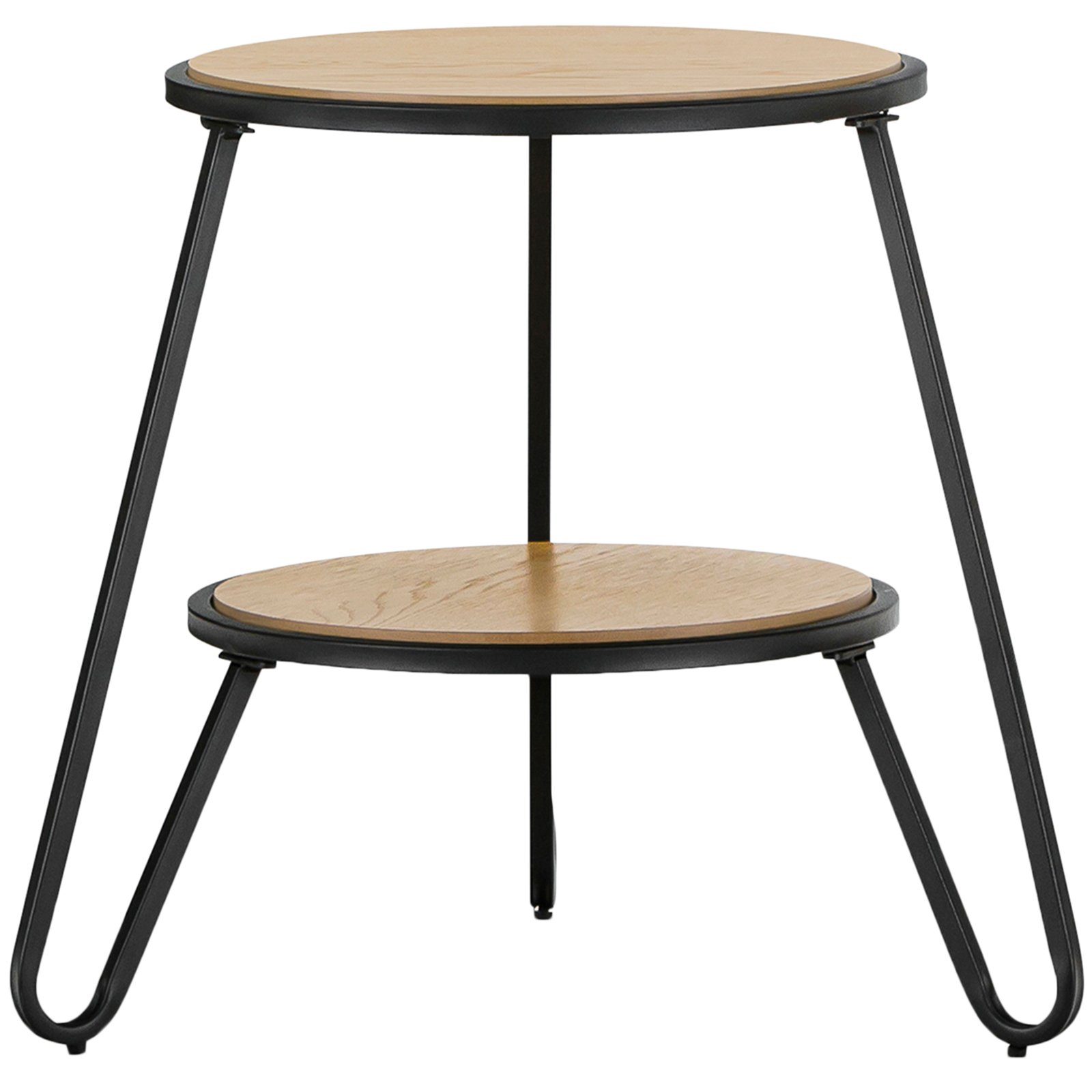 Black Macy Round Side Table Temple Webster