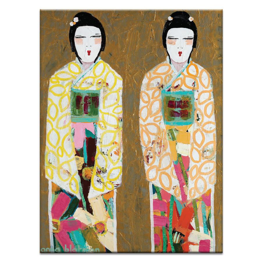 Double Geisha by Anna Blatman Wall Art | Temple & Webster