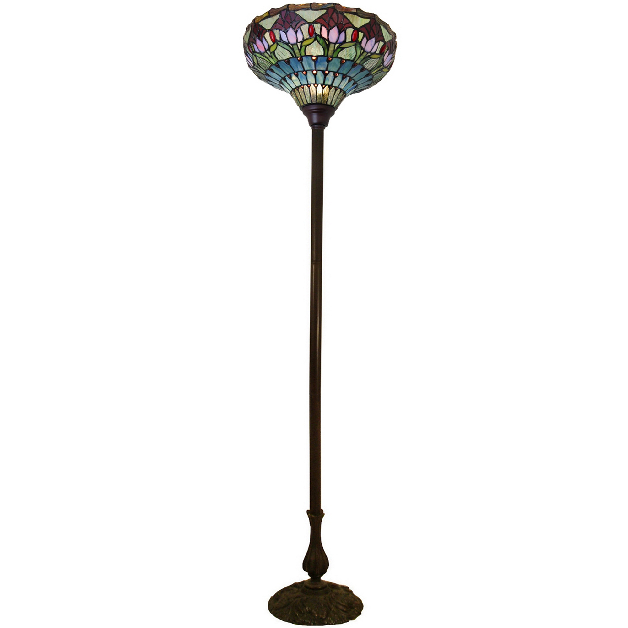 chloe lighting kp tiffany liaison c style torchiere light victorian lamp with floor lamps