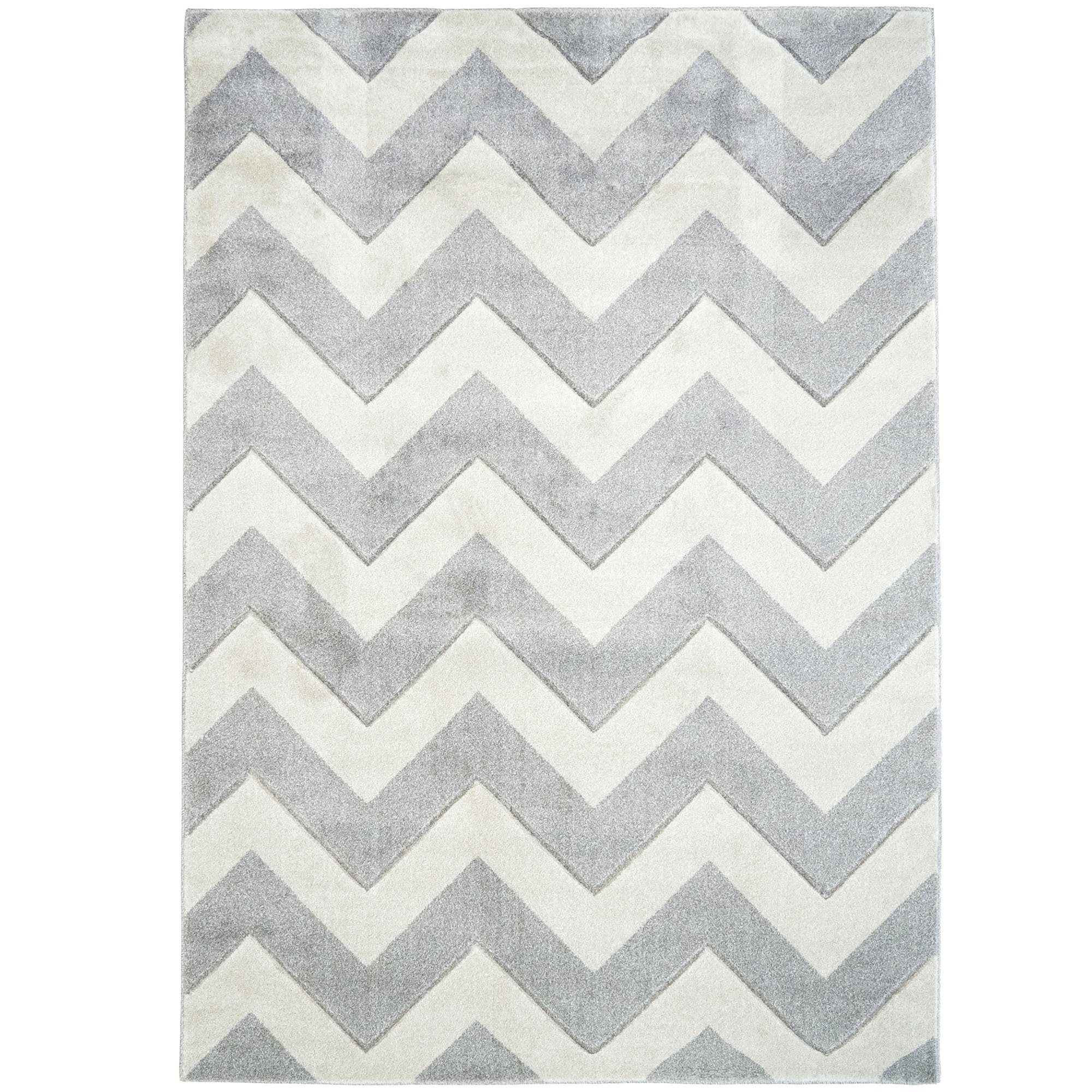 Picture of: Atlas Flooring Grey Off White Plaza Modern Chevron Rug Reviews Temple Webster