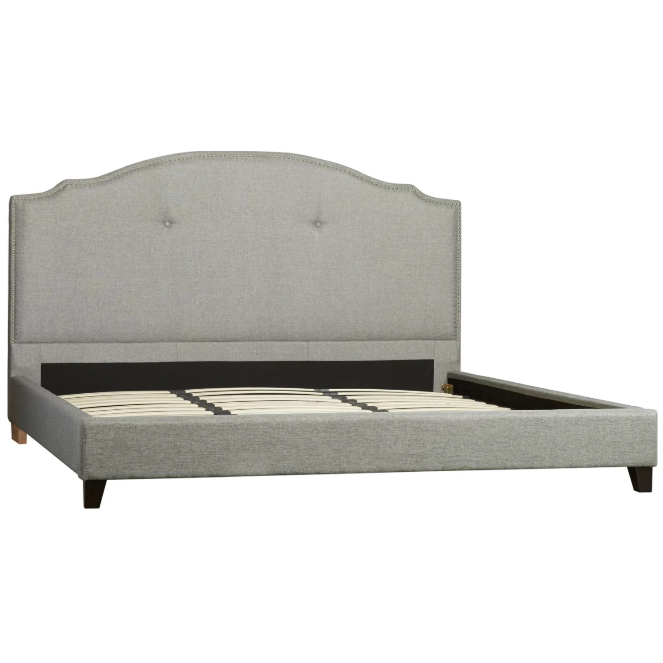 NEW Grey Portland Linen Bed Frame Rawson & Co Beds | eBay