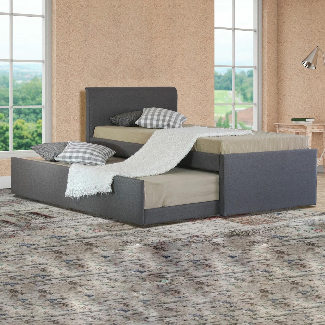 Rawson Co Grey King Single Hazel Trundle Bed Reviews Temple Webster