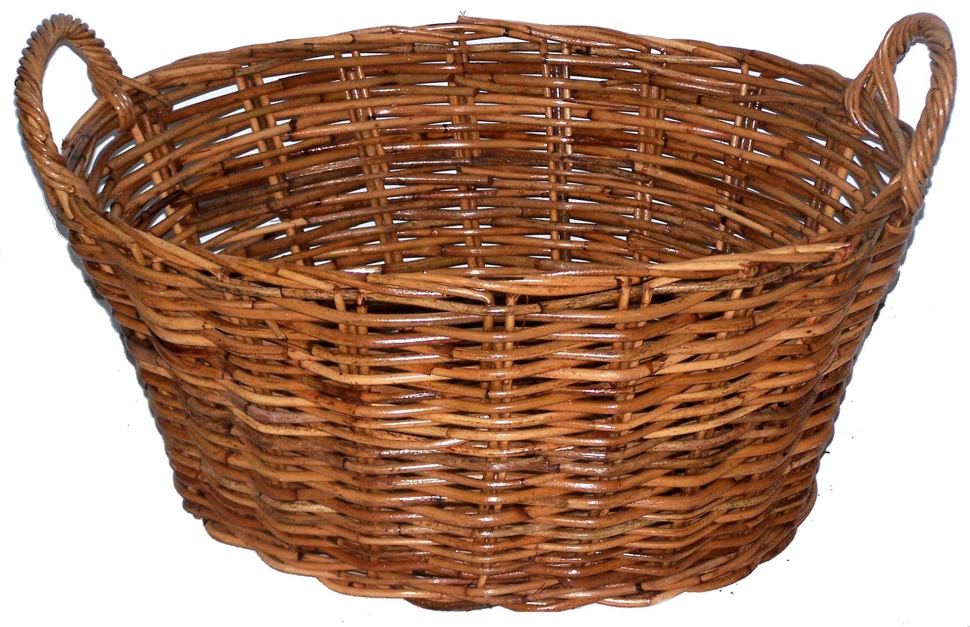 Picture of: Cane Design Oval Rattan Washing Basket Reviews Temple Webster