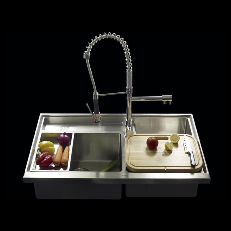 Work Station Series Triple Bowl Kitchen Sink with Accessories ...