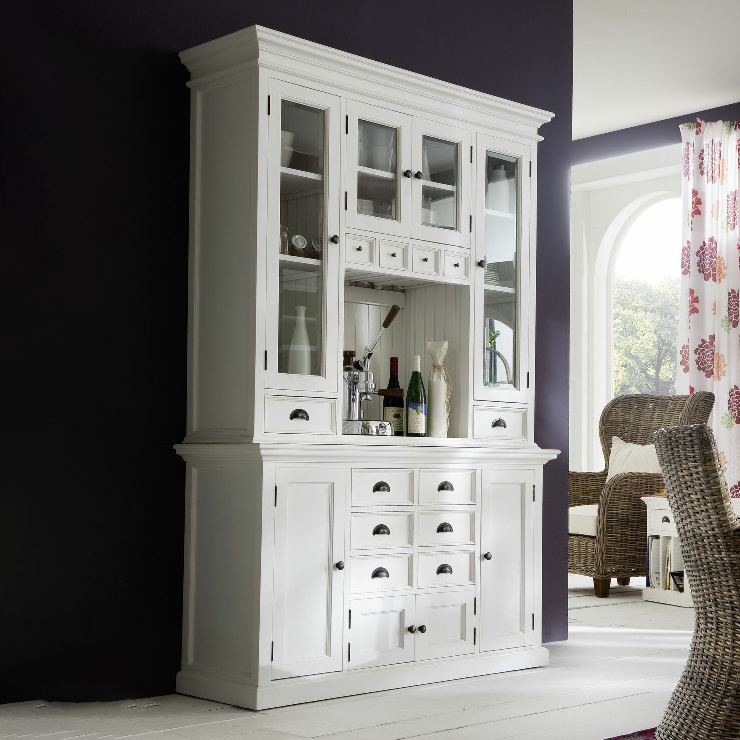 Image of: Balmoral Designs Halifax Hutch Kitchen Cabinet And Buffet Base Reviews Temple Webster