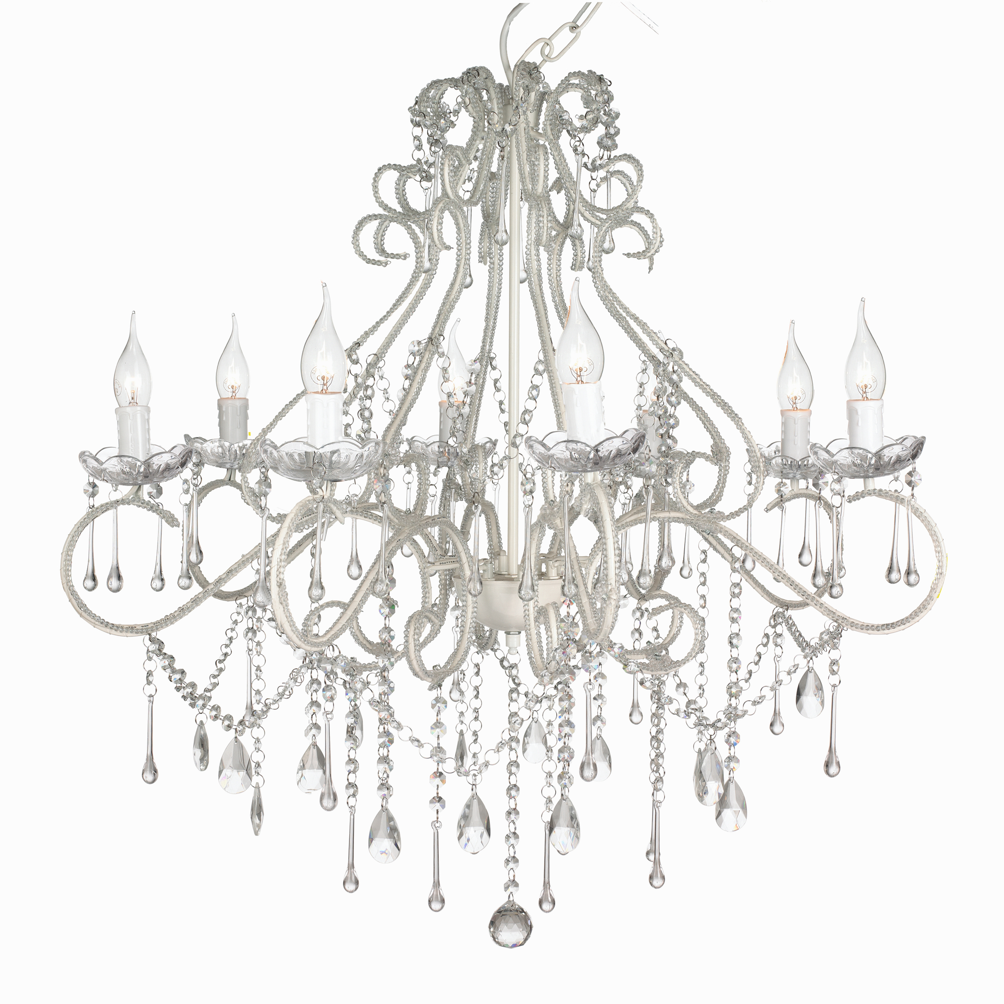 Florence 8 light raindrop chandelier