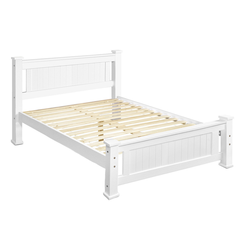 queen com and with bed amazon kitchen wood dp dining frame complete finish design oak style avery mission