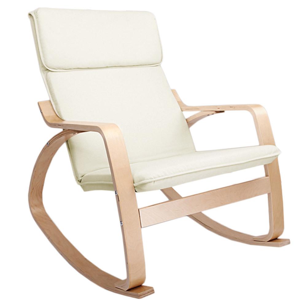 Ashley Bentwood Fabric Rocking Armchair
