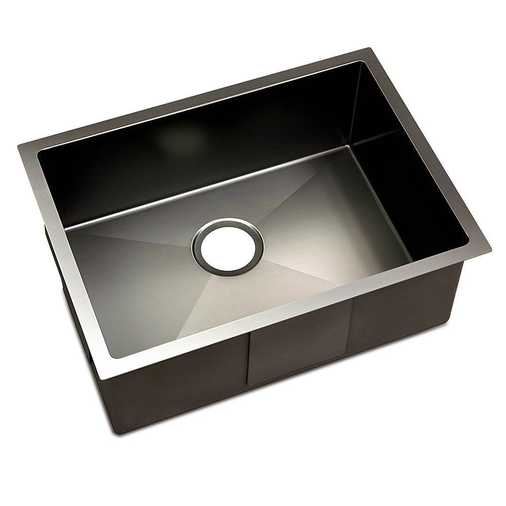 Black Anti-Vibration Stainless Steel Sink   Temple & Webster