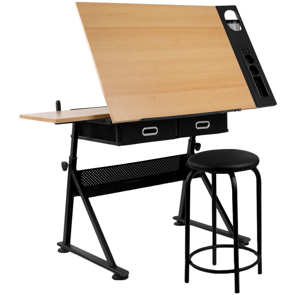 Tilt Drafting Table Stool Set Temple Webster