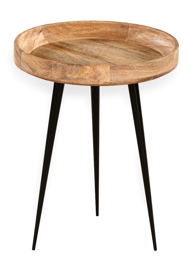 Dimi Mango Wood Side Table Temple Webster
